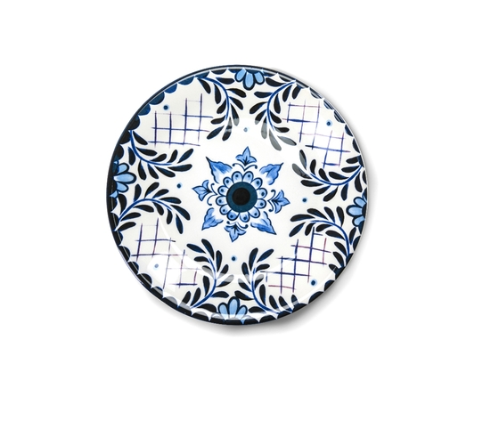 Santorini piatto piano frontale in ceramica