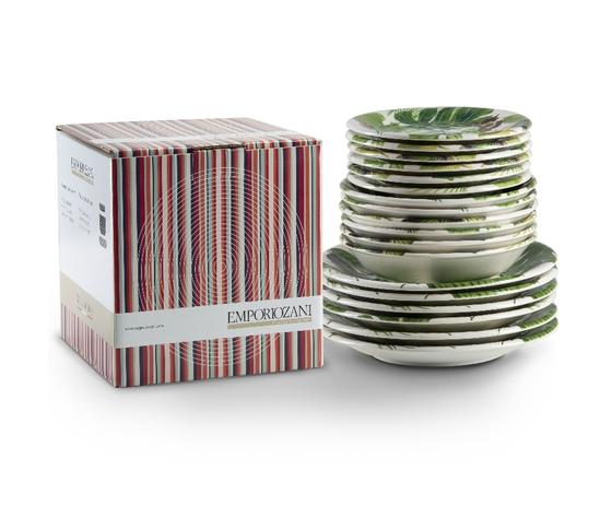York emporio zani  in ceramica da 18 pz