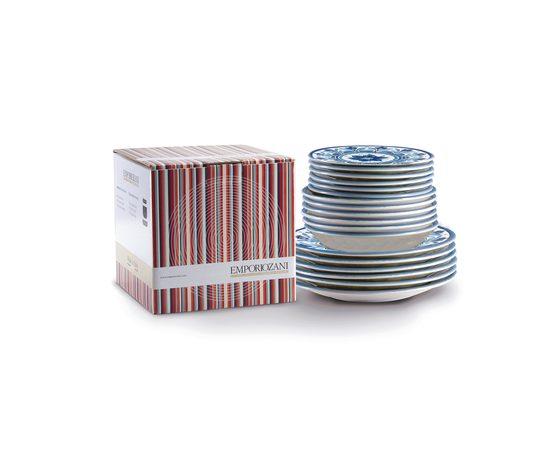 Servizio da 18 pz ceramica havana blu confezione