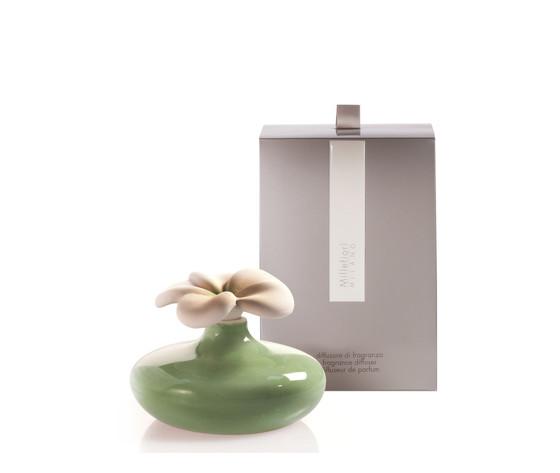 Bomboniera ceramica fiore verde millefiori milano