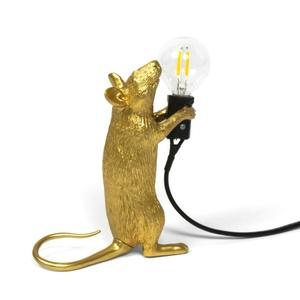 Mouse Lamp In Piedi Gold / Oro Seletti