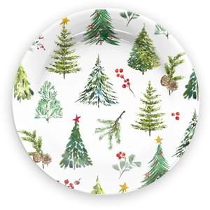 Vassoio Piatto Tondo Natale Panettone Mod. Pineta Emporio Zani