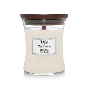 Candela Fragranza White Teak Yankee Candle   WoodWick