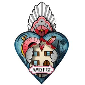 Cuore Decorativo Exvoto Famiglia Design Miho