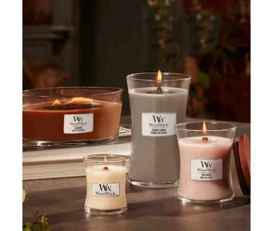 Sacred smoke candele woodwick