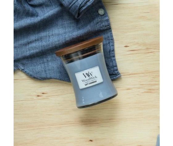 Soft chambray rivendita candele woodwick metoodesign