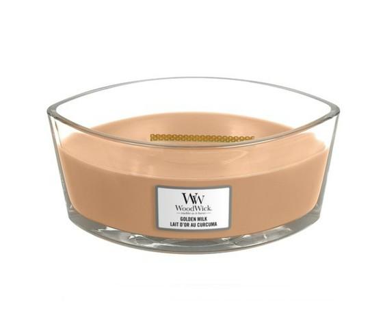 Goldenmilk woodwick candela profumata ellipse