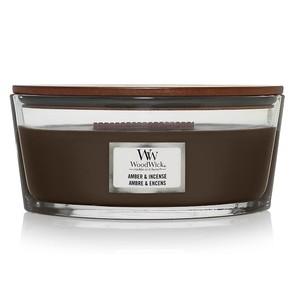 vendita Candela ellipse  ellittica Yankeecandle Fragranza Amber & Incense   WoodWick , profumo Incenso ambrato, colore Rosso scuro, shoppingonline metoo-design roma