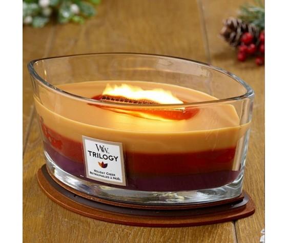 Holiday cheer candela profumata woodwick