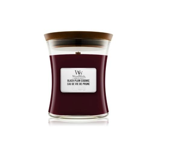 Candela woodwic black plum cognac