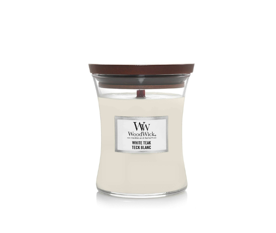 Candela piccola white teak woodwick