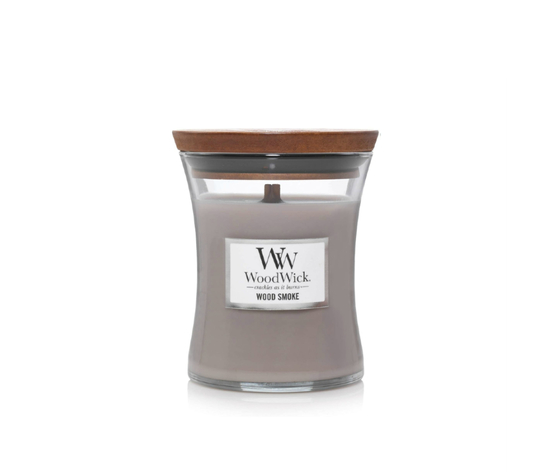 Candela piccola woodwick wood smoke