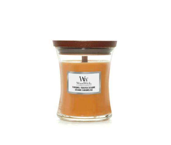 Candela piccola woodwick caramel toasted sesame