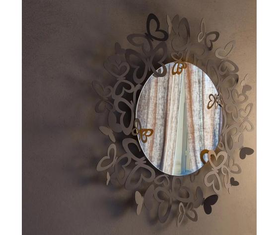Specchio butterfly storm beige ambiente artiemestieri