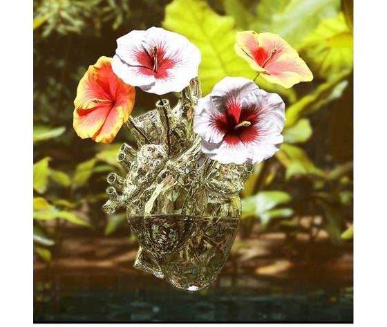 Vaso cuore vetro loveinbloom seletti
