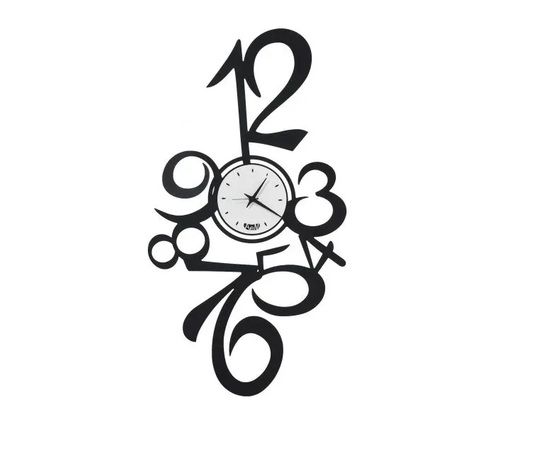 Calypso orologio muro  nero arti e mestieri