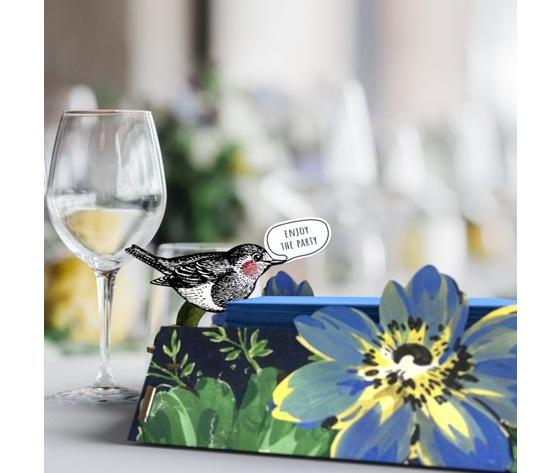 Portatovaglioli vendita offerta mihounespected uccellino giglio fiore uccellino