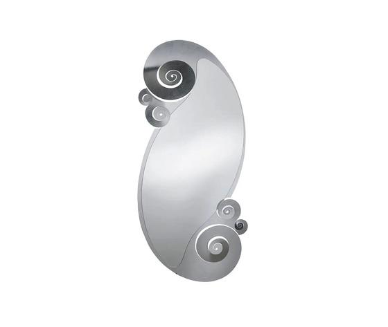 Specchio argento circeo ovale arti e mestieri design