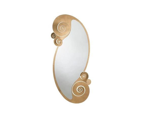 Specchio oro circeo ovale arti e mestieri metoo design