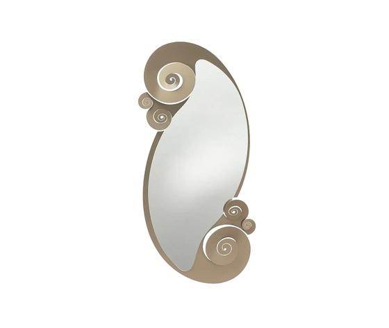 Specchio bronzo circeo ovale arti e mestieri