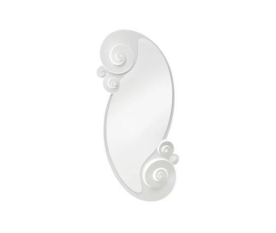 Specchio bianco circeo ovale da terra metoo design arti e mestieri