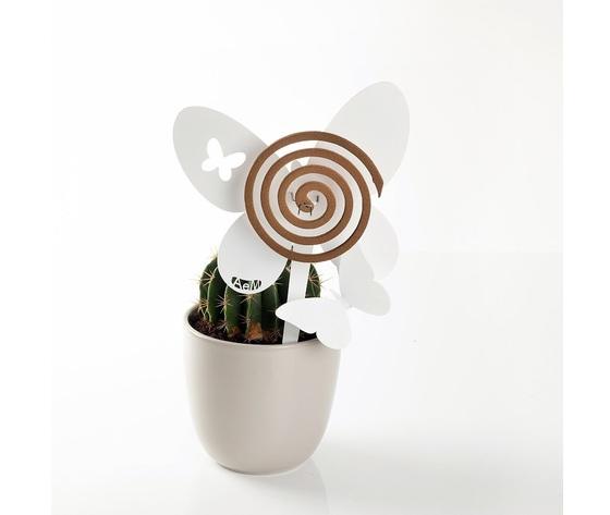 Aem0za11373    portazampirone farfalle vaso bianco
