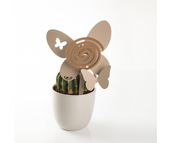 Aem0za11373    portazampirone farfalle vaso beige