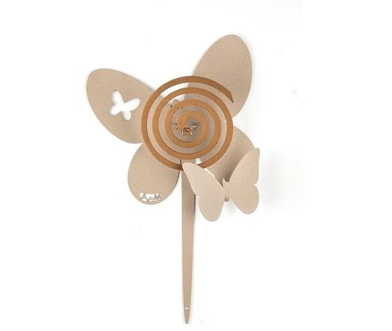 Aem0za11373c75    portazampirone farfalle vaso beige artiemestieri