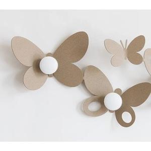 Appendiabiti da muro con decorazioni Farfalle Butterfly design Arti e Mestieri In ferro