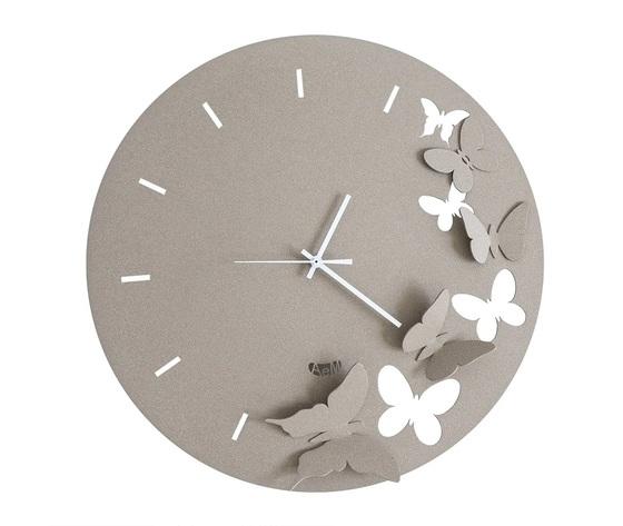 Aem2875c116    orologio farfalle butterfly spring arti e mestieri beige