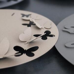 Orologio da Parete Moderno Farfalle Butterfly Spring Design Arti e Mestieri