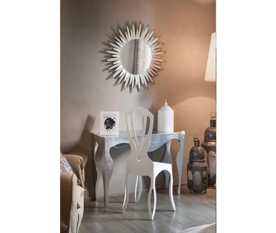 Aem2914    isotta argento tavolino consolle con specchio lux