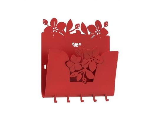 Aem3312ro    porta posta fior di loto rosso