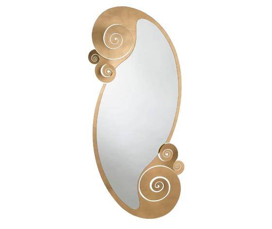 Aem3367    specchio oro circeo ovale da terra arti e mestieri