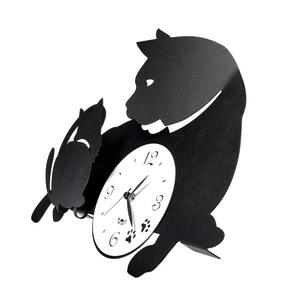 Orologio da parete moderno Mamma Gatta Con Gattino Design Arti e Mestieri