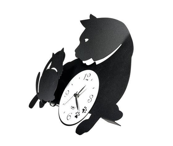 Aem3494    particolare orologio mamma gatta nero
