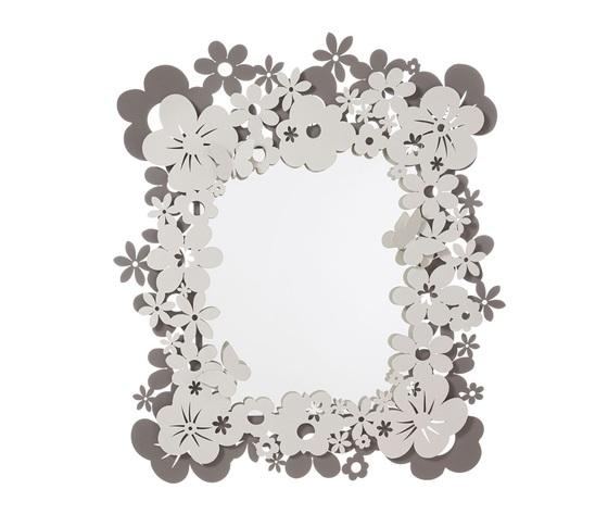 Aem3508c135     specchio con cornice a fiori daisy artiemestieri