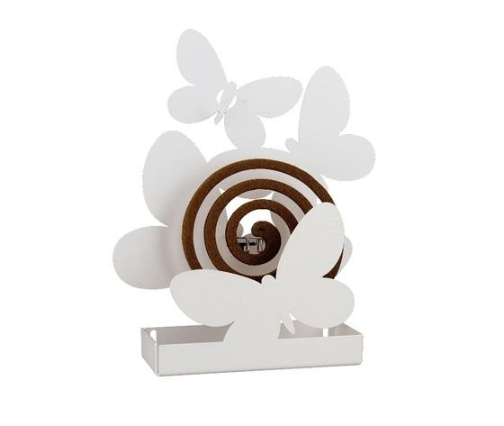 Aem11259c26    porta zampirone farfalle artiemestieri bianco