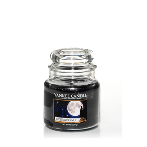 Candela Nera Midsummer's Night yankee Candle giara piccola 104 gr  Vendita Metoo-.design Roma, idea regalo Natale, Feste Compleanno
