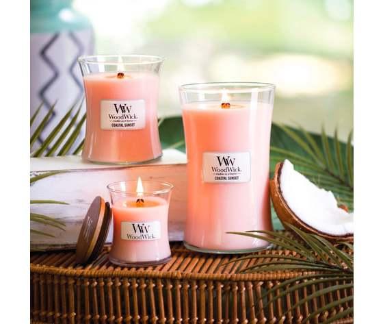Wd92049e    woodwick coastal sunset large hourglass jar candle