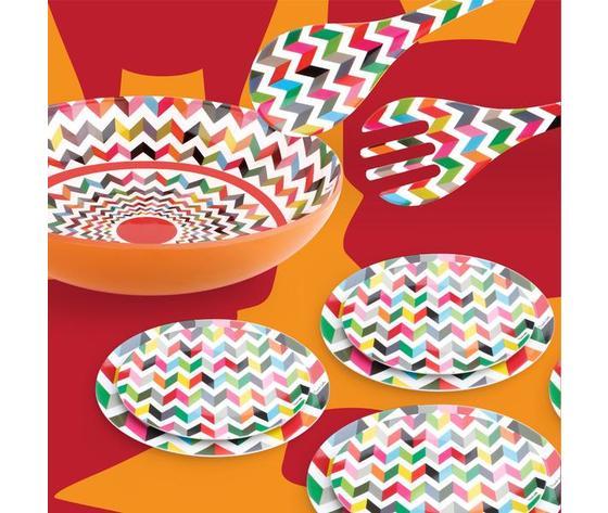 Fb gn008zi    piatti portata melamina ziggy geometrici