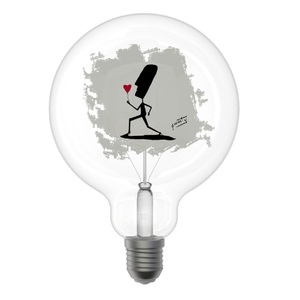 Lampada Led Decorativa Globo G125 Linea Poetic Mod. Flower Attacco E27 Design Filotto
