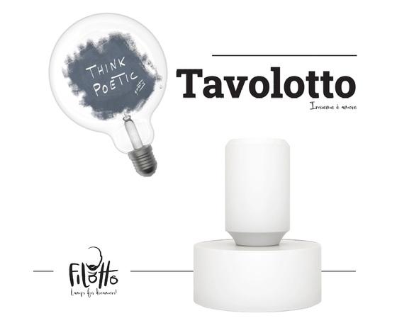 Tavolotto lampada bianca moderna poetic