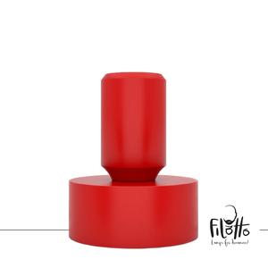 Lampada da Tavolo Moderna Tavolotto In Silicone Colore Rosso , Design Filotto