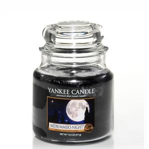 Candela Nera Midsummer's Night yankee Candle giara media Vendita Metoo-.design Roma, idea regalo Natale, Feste Compleanno