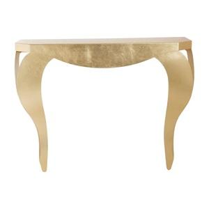 Consolle da Ingresso o soggiorno Chippendale in Foglia Oro, Design Arti e Mestieri
