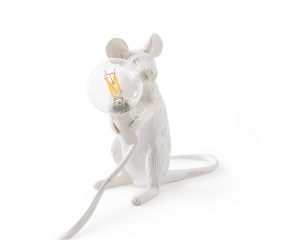 Mouselamp Sitting bianco Seletti offerta online sconto shopping metoo-design