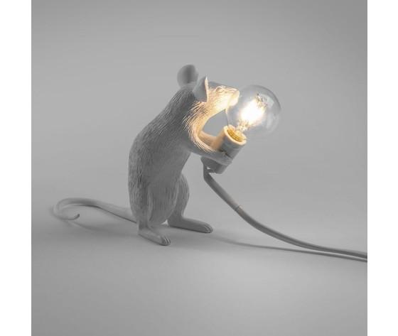 Mouselamp sitting bianco seletti
