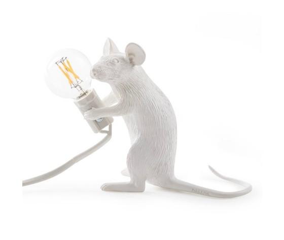 Mouse lamp sitting seduto bianco