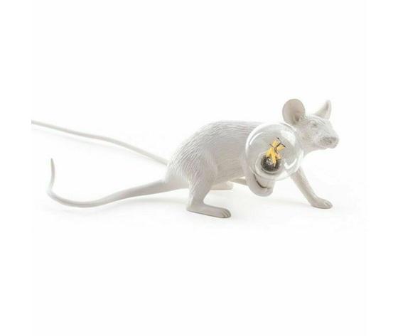 Mouselamp lie down bianco seletti led